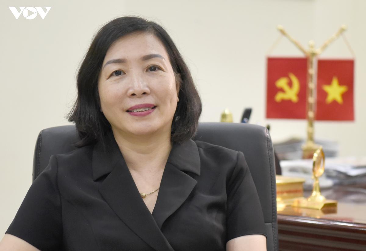 Bà Đào Khánh Hà - Trưởng Ban Tuyên giáo Thành ủy Hải Phòng