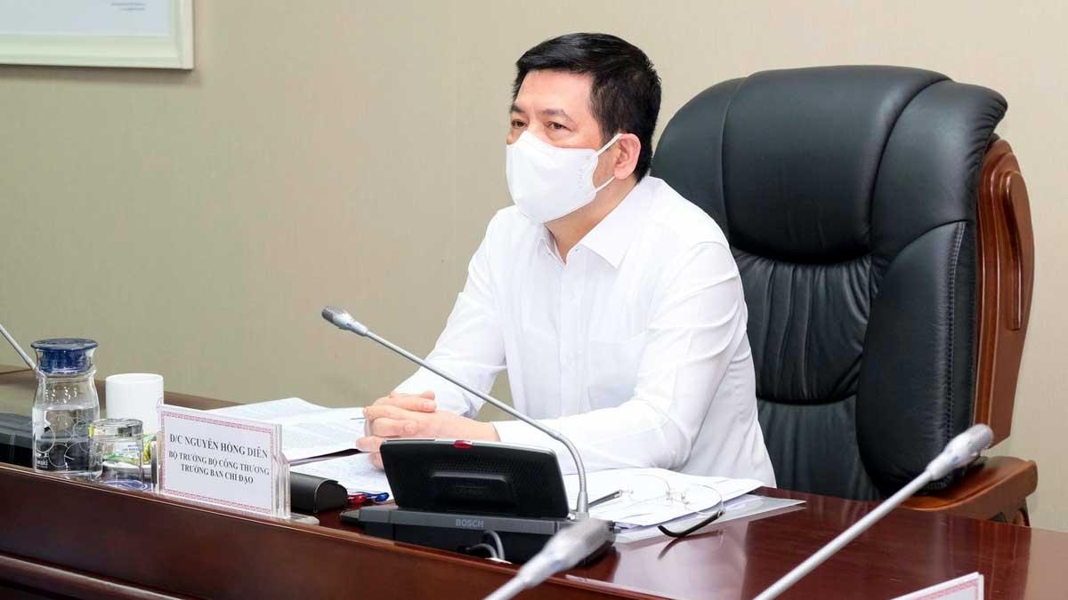 Bộ trưởng Bộ Công Thương Nguyễn Hồng Diên chỉ đạo hội nghị.