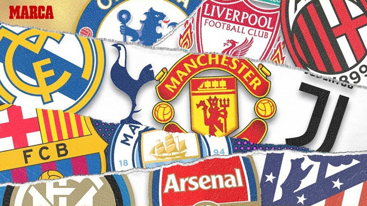 """Nhóm """"12 đội sáng lập"""" Super League. (Ảnh: Marca)"""