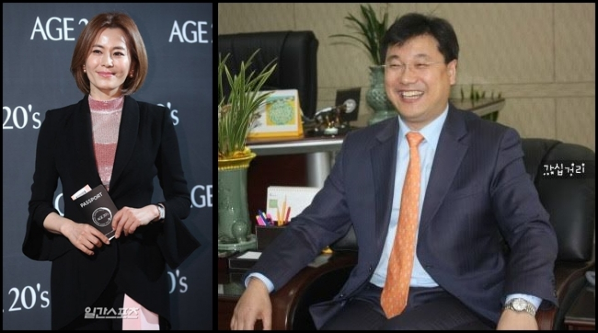 Bà Kyeon Mi-ri (trái) và ông Lee Hong Heon (phải). Nguồn: The Daily Sports, Tistory