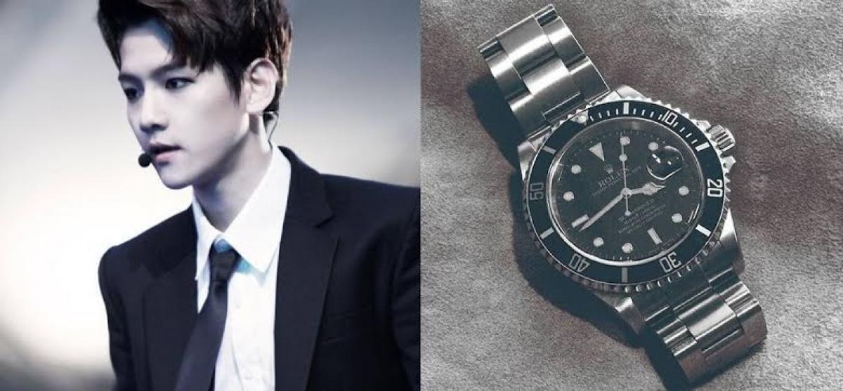Baek Hyun của nhóm EXO được người hâm mộ tặng một chiếc đồng hồ Rolex với giá 10.000 USD.Không chỉ vậy, anh còn nhận được rất nhiều hiện vật xa xỉ khác.