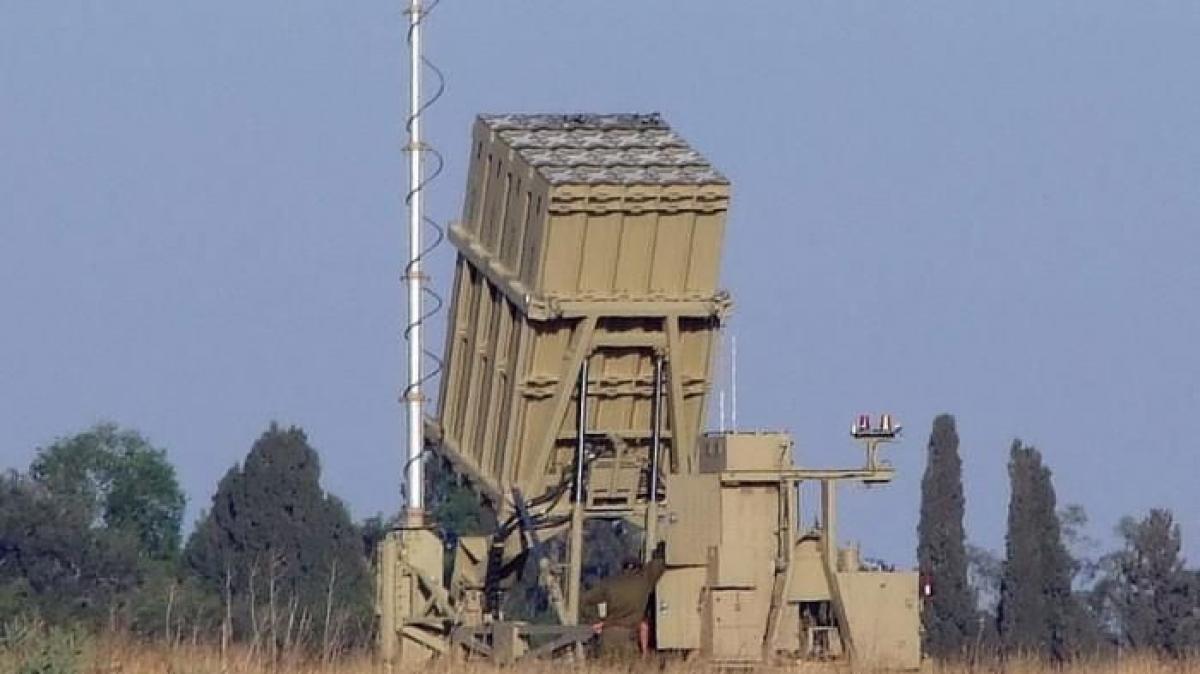 Hệ thống Vòm sắt (Iron Dome) của quân đội Israel. Ảnh: AP.