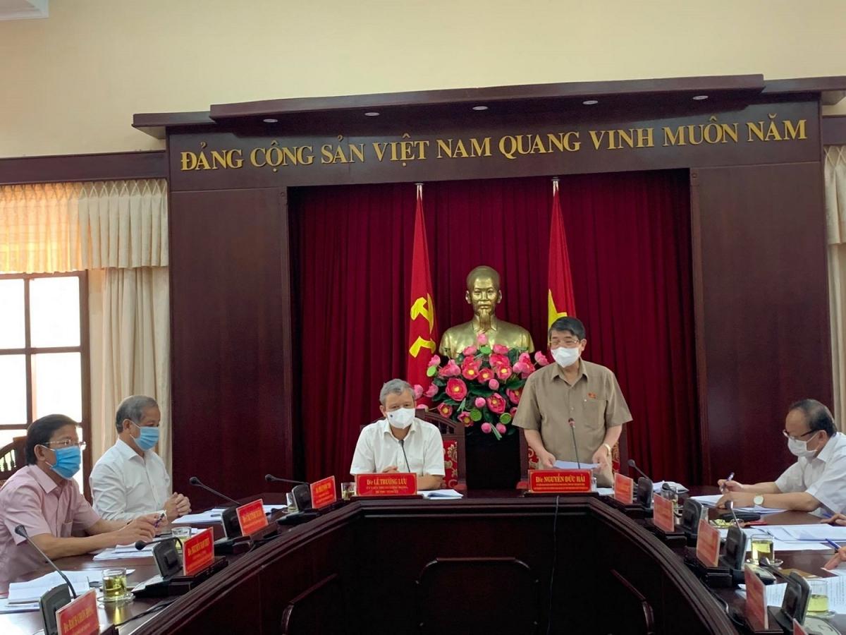 Ông Nguyễn Đức Hải, Phó Chủ tịch Quốc hội làm việc với Ủy ban Bầu cử tỉnh Thừa Thiên Huế