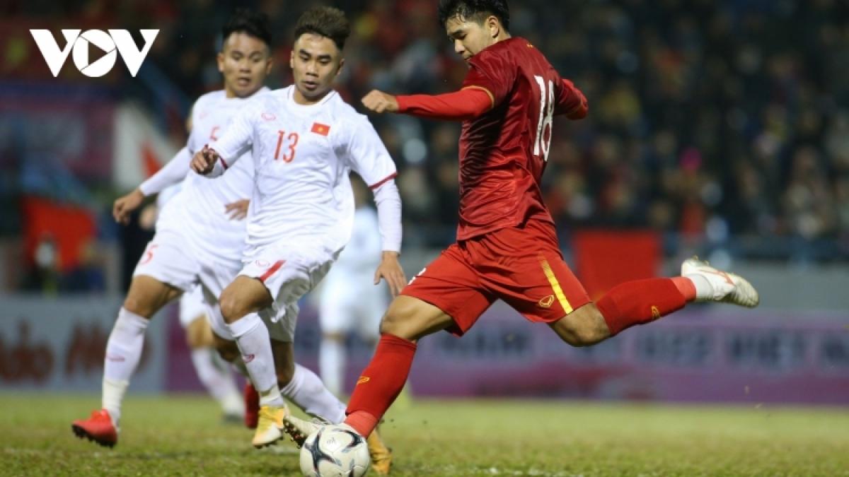 ĐT Việt Nam đá giao hữu với U22 Việt Nam vào chiều nay (18/5) - Ảnh: Dương Thuật.