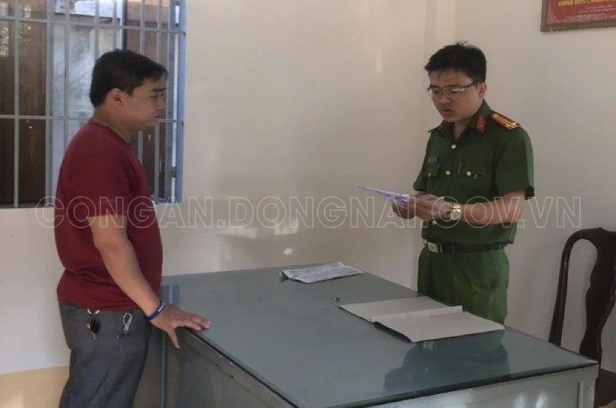 Đối tượng Phạm Thành Lộc, một trong các bị can chính của vụ án bị bắt tạm giam (Ảnh: Công an tỉnh Đồng Nai)