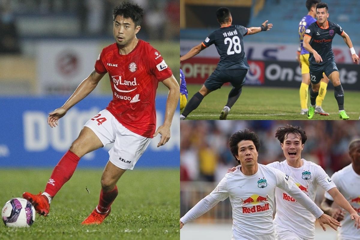 Top 10 cầu thủ đua tranh danh hiệu vua phá lưới V-League 2021 gồm có: