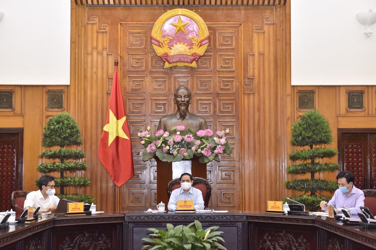 Thủ tướng Chính phủ Phạm Minh Chính làm việc với Bộ Y tế nhằm đưa ra những giải pháp phát triển ngành y tế và giải quyết những vấn đề tồn đọng, cấp bách của ngành phục vụ công tác phòng, chống dịch bệnh COVID-19