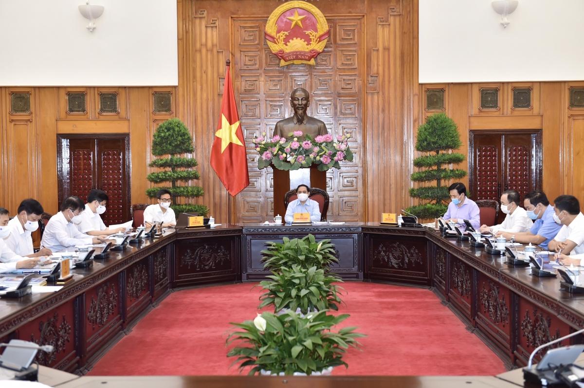 Thủ tướng Chính phủ Phạm Minh Chính làm việc với Bộ Y tế