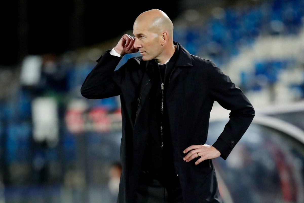 Thầy trò HLV Zidane đã mất đi quyền tự quyết trong cuộc đua vô địch La Liga. (Ảnh: Getty).