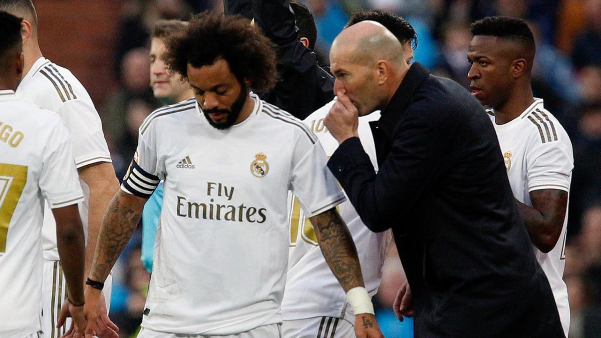 Marcelo từng là trụ cột cùng HLV Zidane giúp Real Madrid vô địch Champions League 3 lần liên tiếp nhưng đang thất sủng. (Ảnh: Marca)