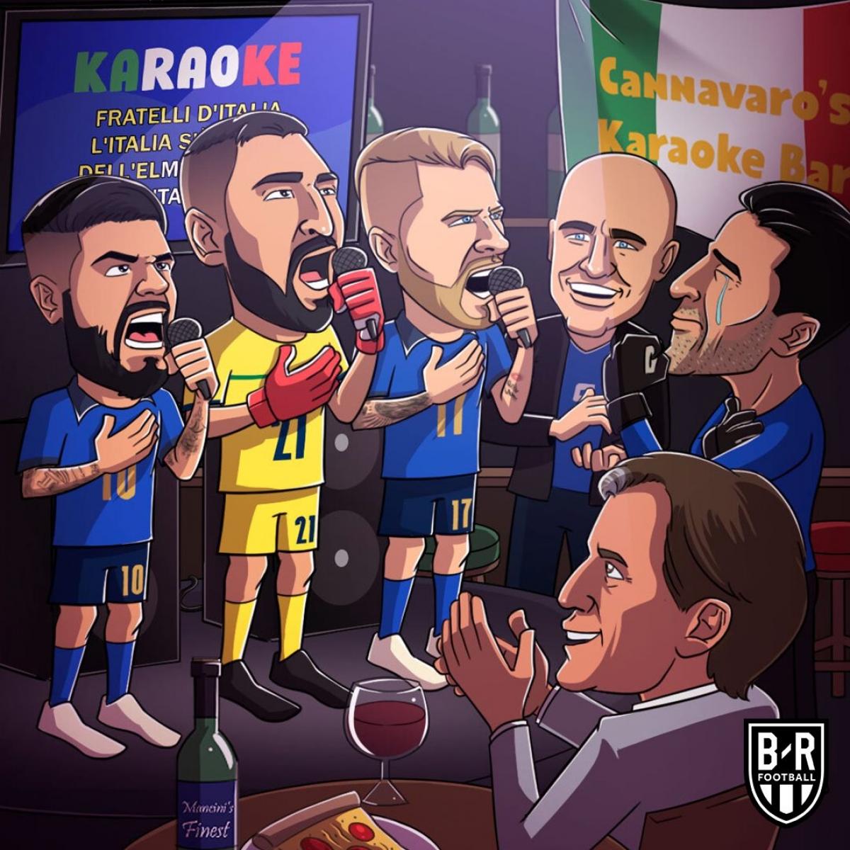ĐT Italia đang có phong độ cực cao ở EURO 2021. (Ảnh: Bleacher Report).