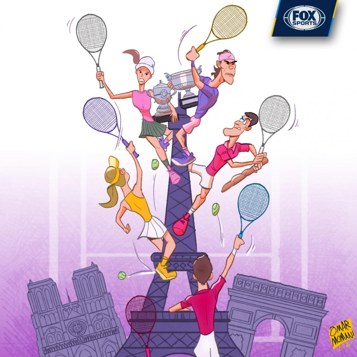 Giải quần vợt Roland Garros đang diễn ra rất hấp dẫn ở Paris (Pháp). (Ảnh: Omar Momani).