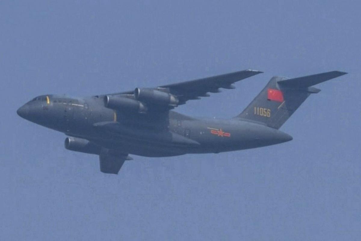 Máy bay vận tải Y-20 của Không quân Trung Quốc. Ảnh: CCTV.