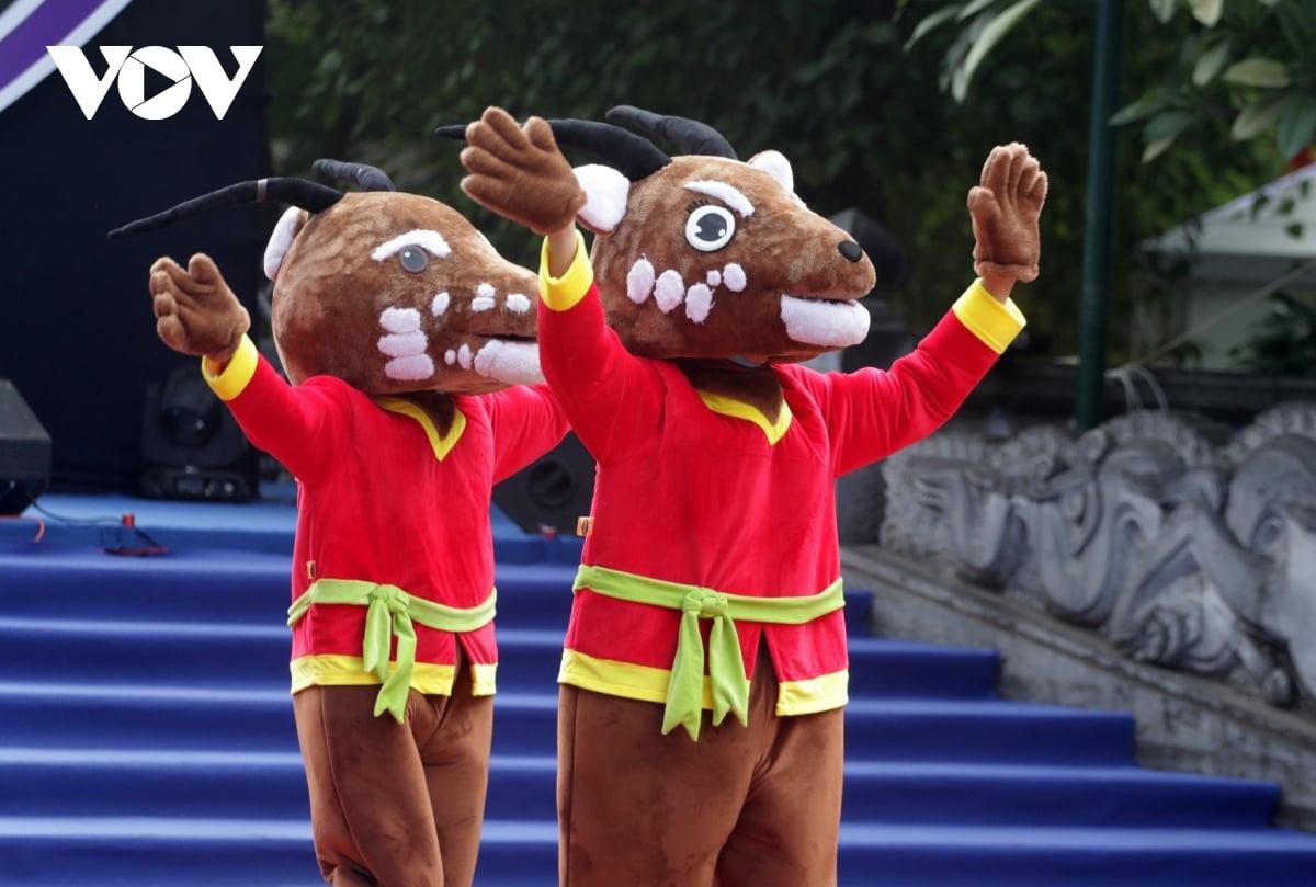 Sao La - linh vật của SEA Games 31 ở Việt Nam (Ảnh: Trần Tiến).