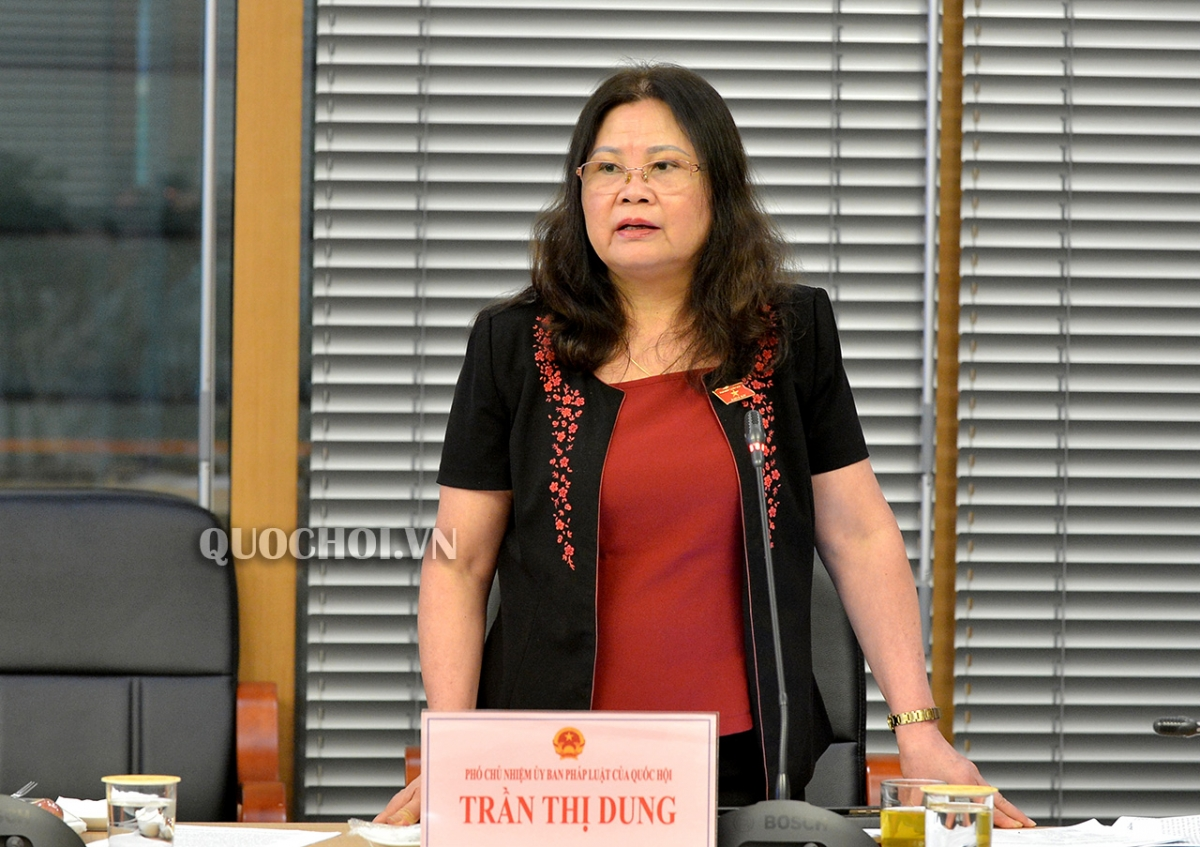 Phó Chủ nhiệm Ủy ban Pháp luật Trần Thị Dung. (Ảnh: Quochoi.vn)