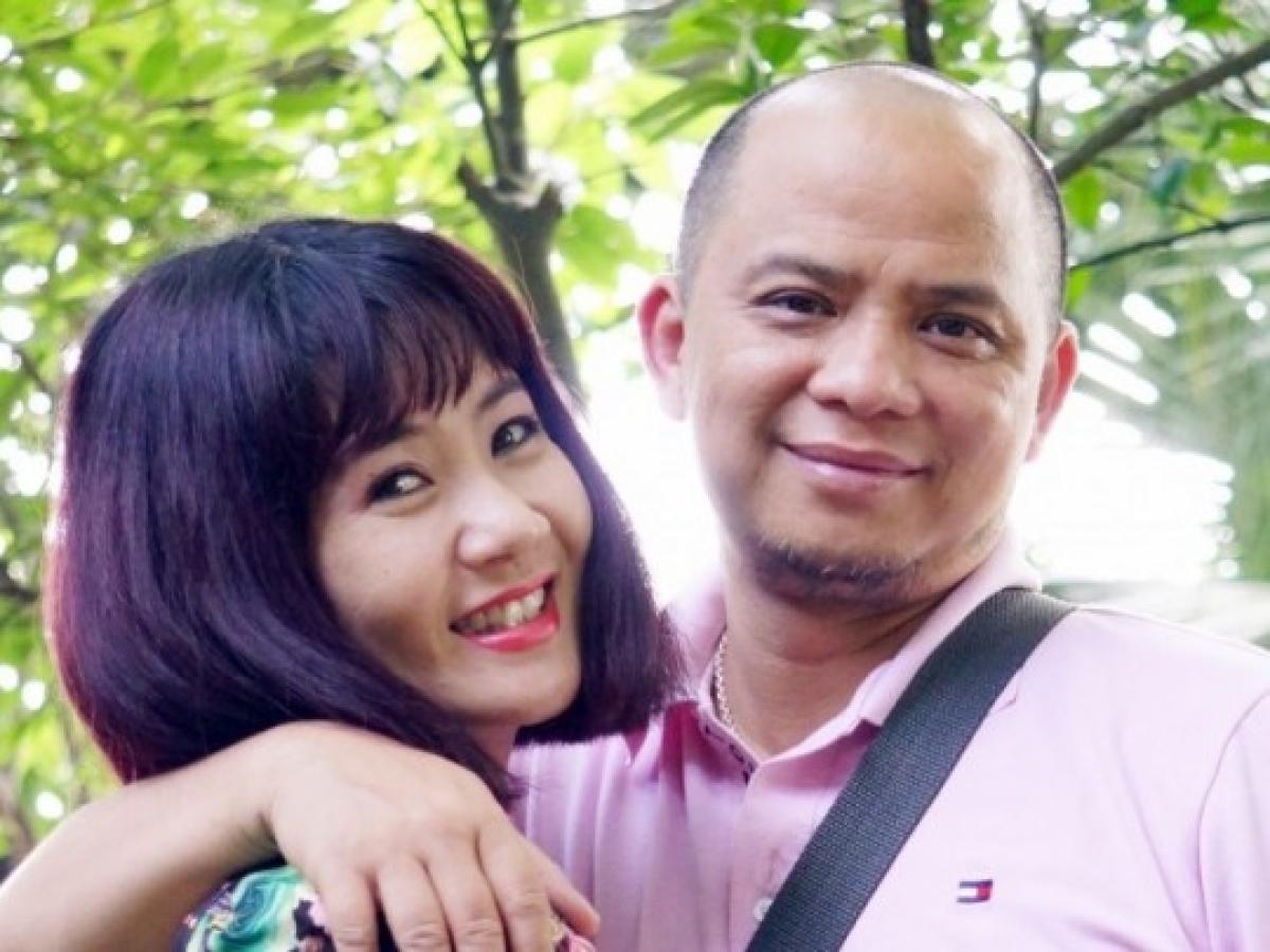 Vợ chồng diễn viên Nguyệt Hằng-Anh Tuấn.