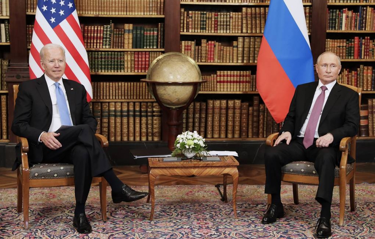 Tổng thống Mỹ J.Biden và Tổng thống Nga V.Putin tại cuộc gặp thượng đỉnh ở Geneva-Thụy sỹ