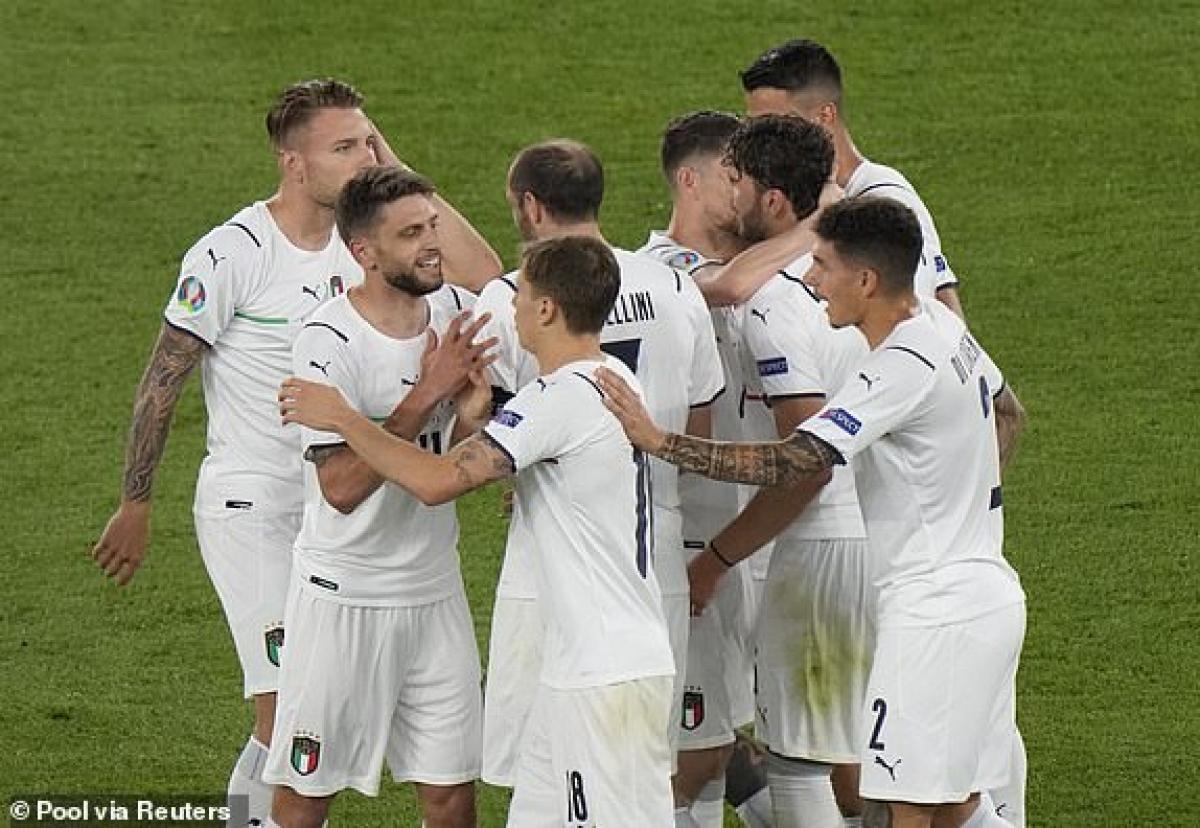 Italia giành thắng lợi 3 sao trước Thổ Nhĩ Kỳ trong ngày khai màn VCK EURO 2021. (Ảnh: Reuters).