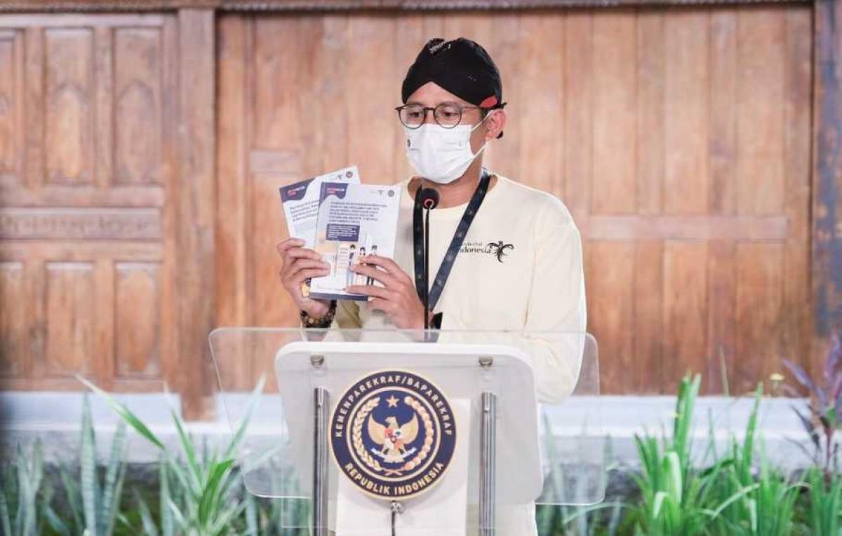 Bộ trưởng Du lịch và Kinh tế Sáng tạo Indonesia - ông Sandiaga Salahuddin Uno. Nguồn: Bộ Du lịch và Kinh tế Sáng tạo Indonesia
