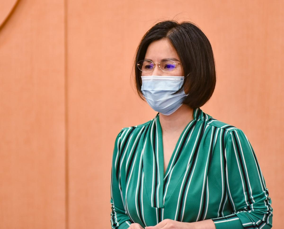 Giám đốc Sở Y tế Hà Nội Trần Thị Nhị Hà.