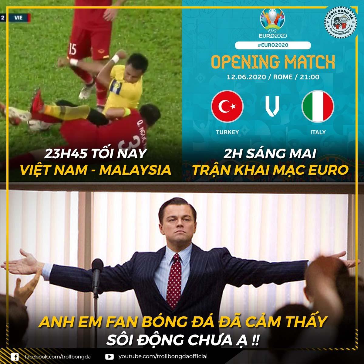 """Người hâm mộ bóng đá Việt Nam sẵn sàng """"quẩy"""" xuyên đêm. (Ảnh: Troll Bóng Đá)"""