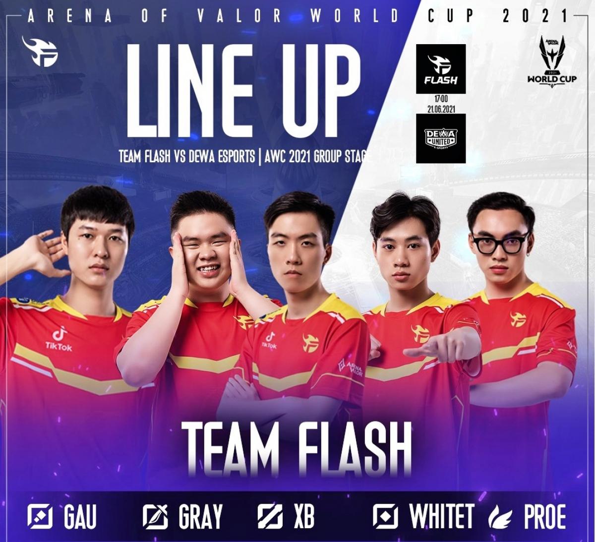 Team Flash bất ngờ có 2 sự thay đổi người quan trọng ở trận đấu với Dewa. (Ảnh: Team Flash).