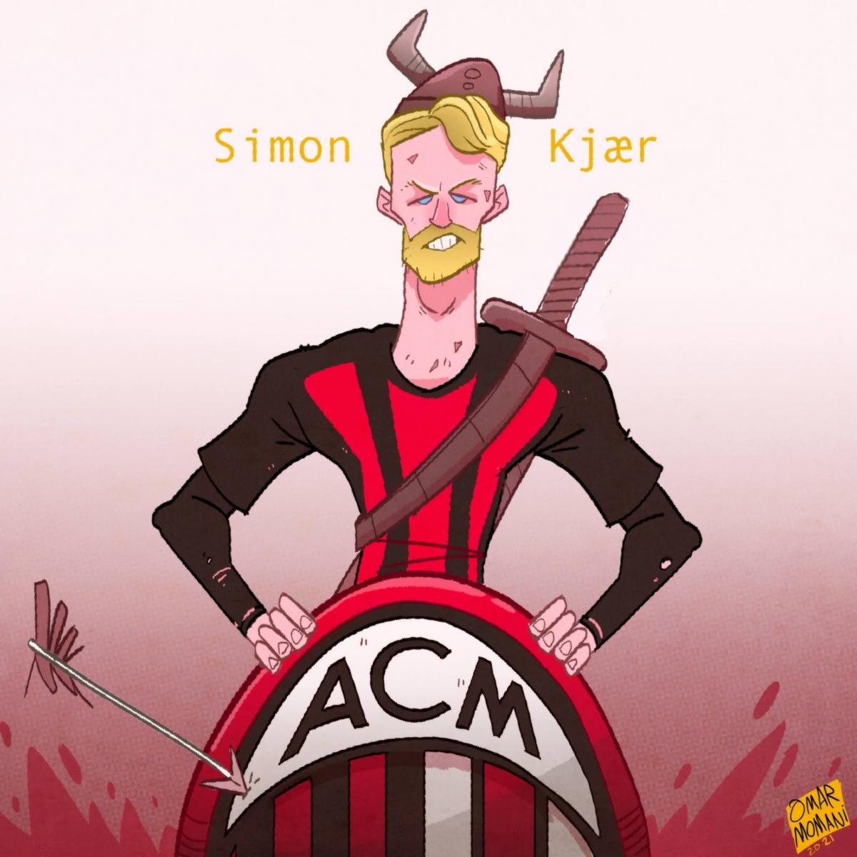 Chiến binh Simo Kjaer. (Ảnh: Omar Momani)