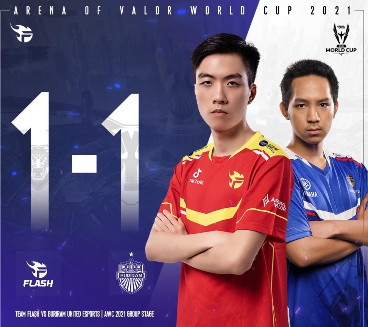 Team Flash của Việt Nam hòa nghẹt thở đại diện Thái Lan ở bảng tử thần.