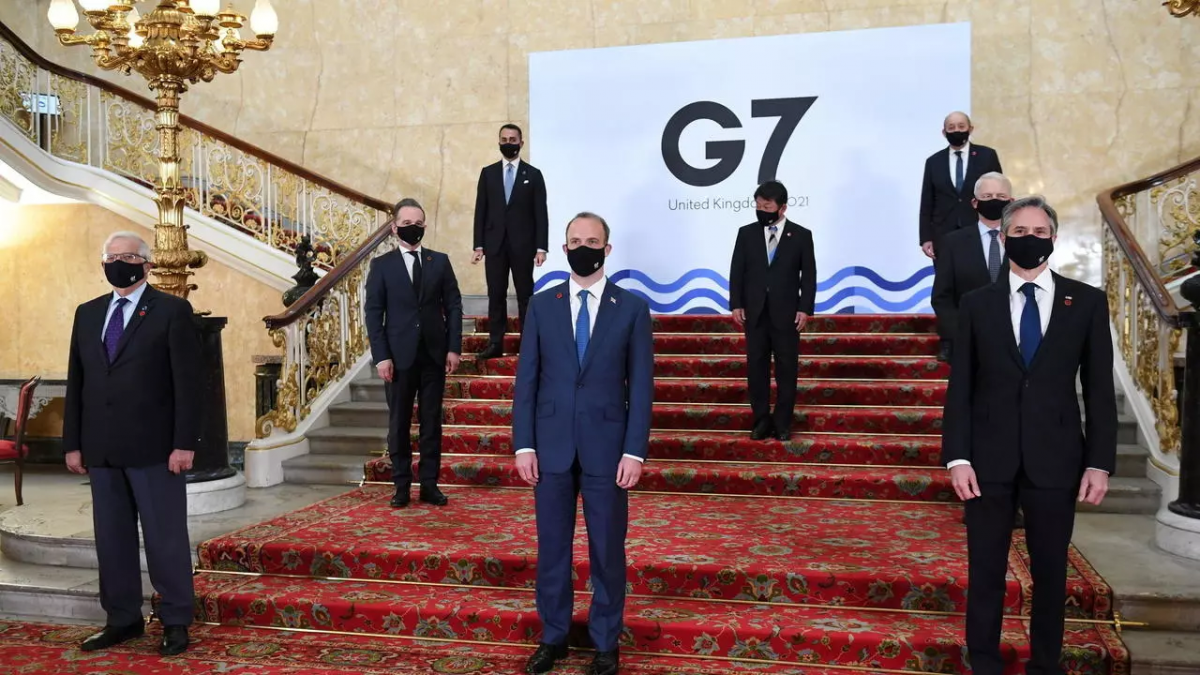 Một hội nghị của khối G7 tại London, Anh, ngày 04/05/2021. Ảnh: Reuters