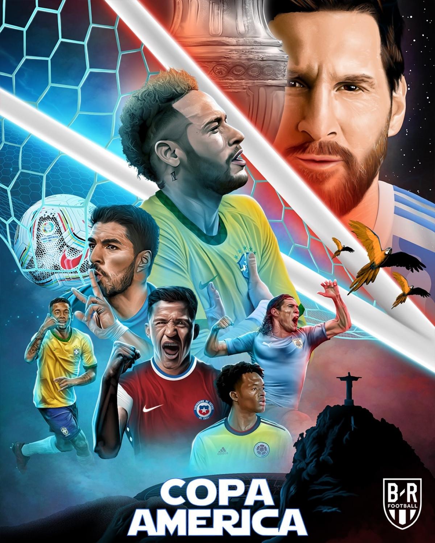 Đừng quên hè này còn có Copa America. (Ảnh: Bleacher Reports)