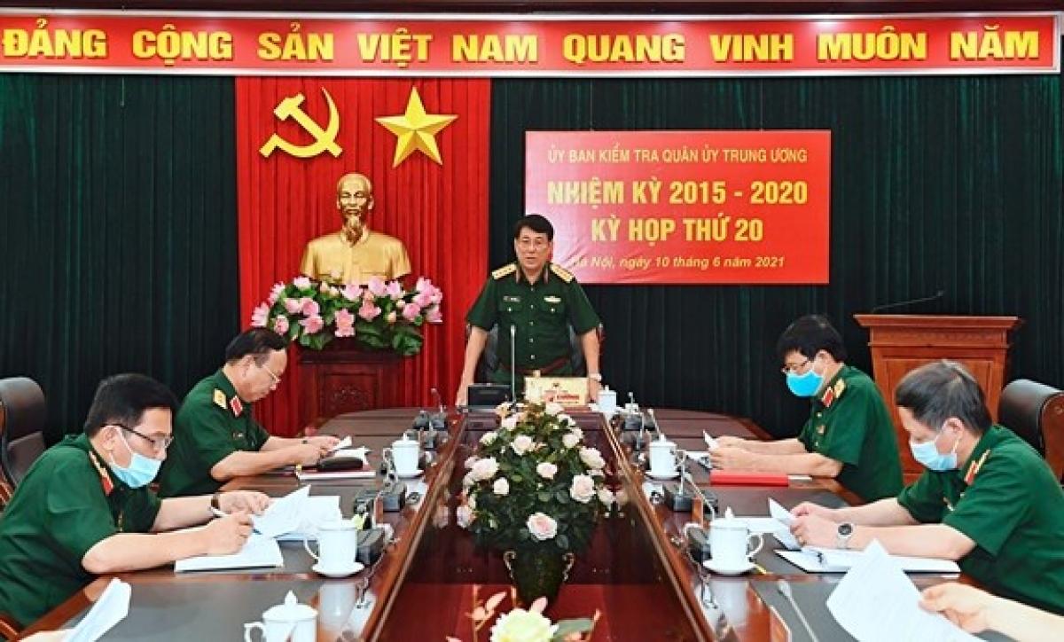 Đại tướng Lương Cường chủ trì kỳ họp lần thứ 20, Ủy ban Kiểm tra Quân ủy Trung ương nhiệm kỳ 2015-2020. (Nguồn: baochinhphu.vn)