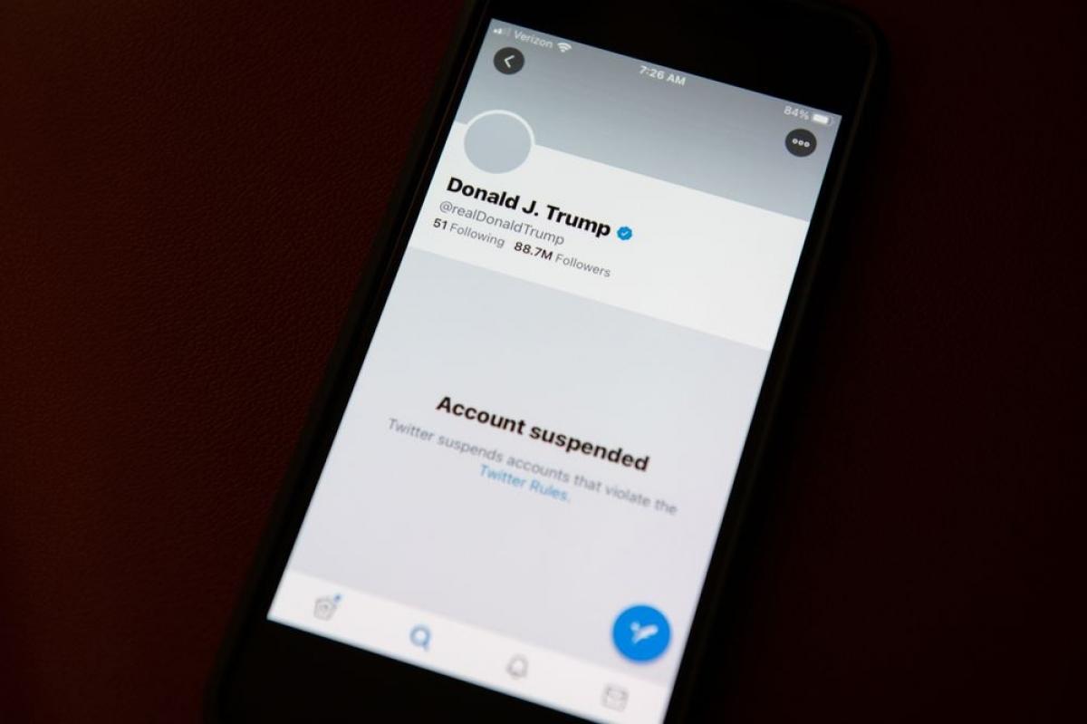 Ông Trump hiện vẫn nằm trong 'danh sách đen' của Twitter - Ảnh: Bloomberg