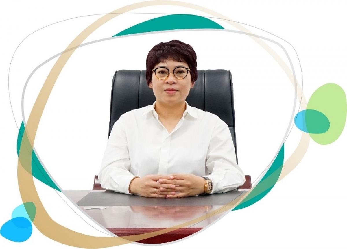 Bà Tạ Thị Vân - Chủ tịch HĐQT công ty cổ phần bất động sản Belleville Hà Nội