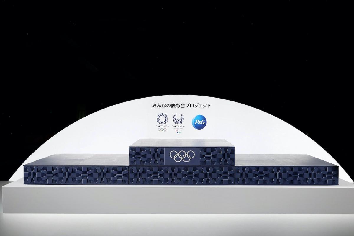 Bục nhận giải tại Olympic Tokyo (Ảnh: Japantoday)