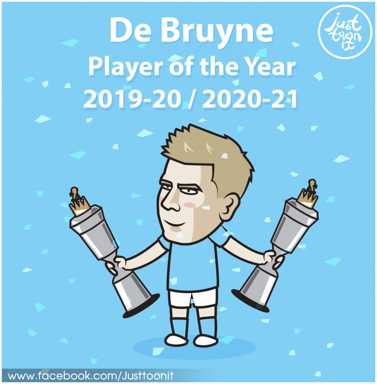 De Bruyne xuất sắc nhất Ngoại hạng Anh 2020/2021.