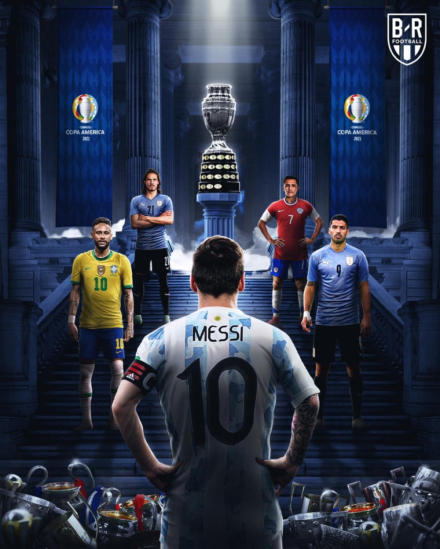 Lionel Messi có hoàn thành giấc mơ Copa America? (Ảnh: Bleacher Reports)