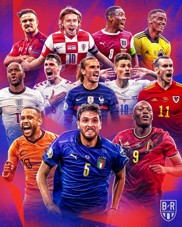 Đã xác định 12/16 đội lọt vào vòng knock-out EURO 2021. (Ảnh: Bleacher Report)