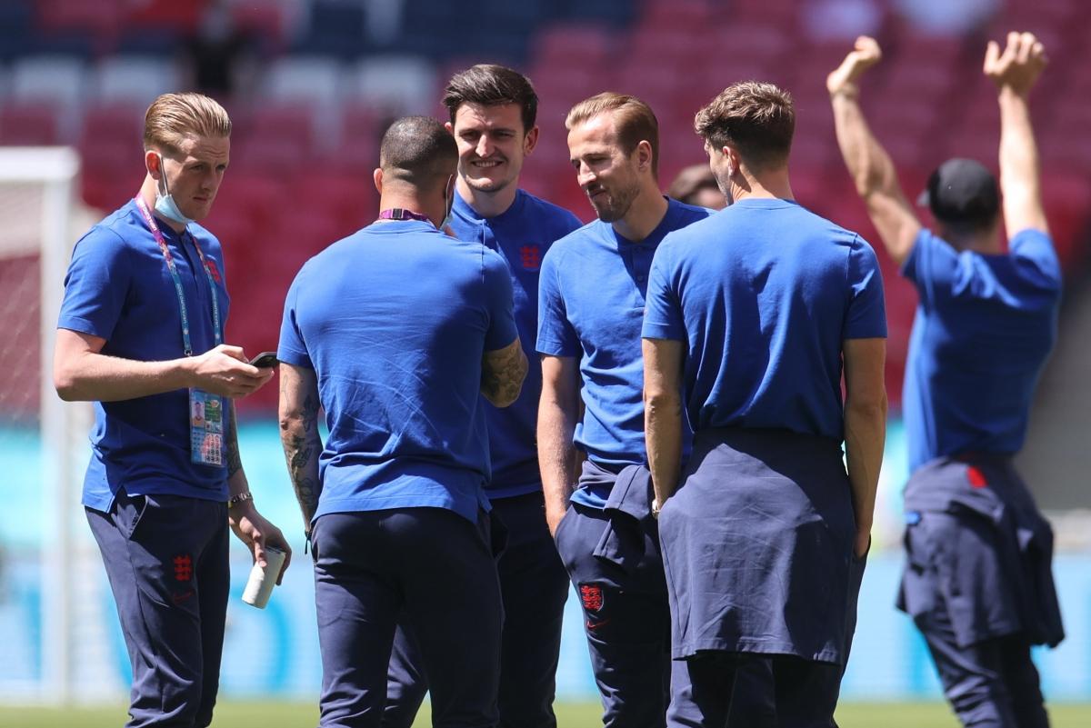 ĐT Anh đã có mặt trên sân Wembley. (Ảnh: Reuters).