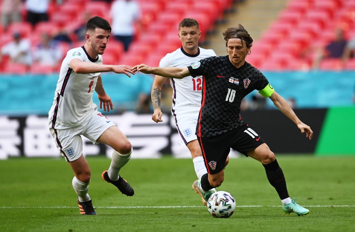ĐT Anh và Croatia bất phân thắng bại trong hiệp đấu đầu tiên. (Ảnh: Reuters).