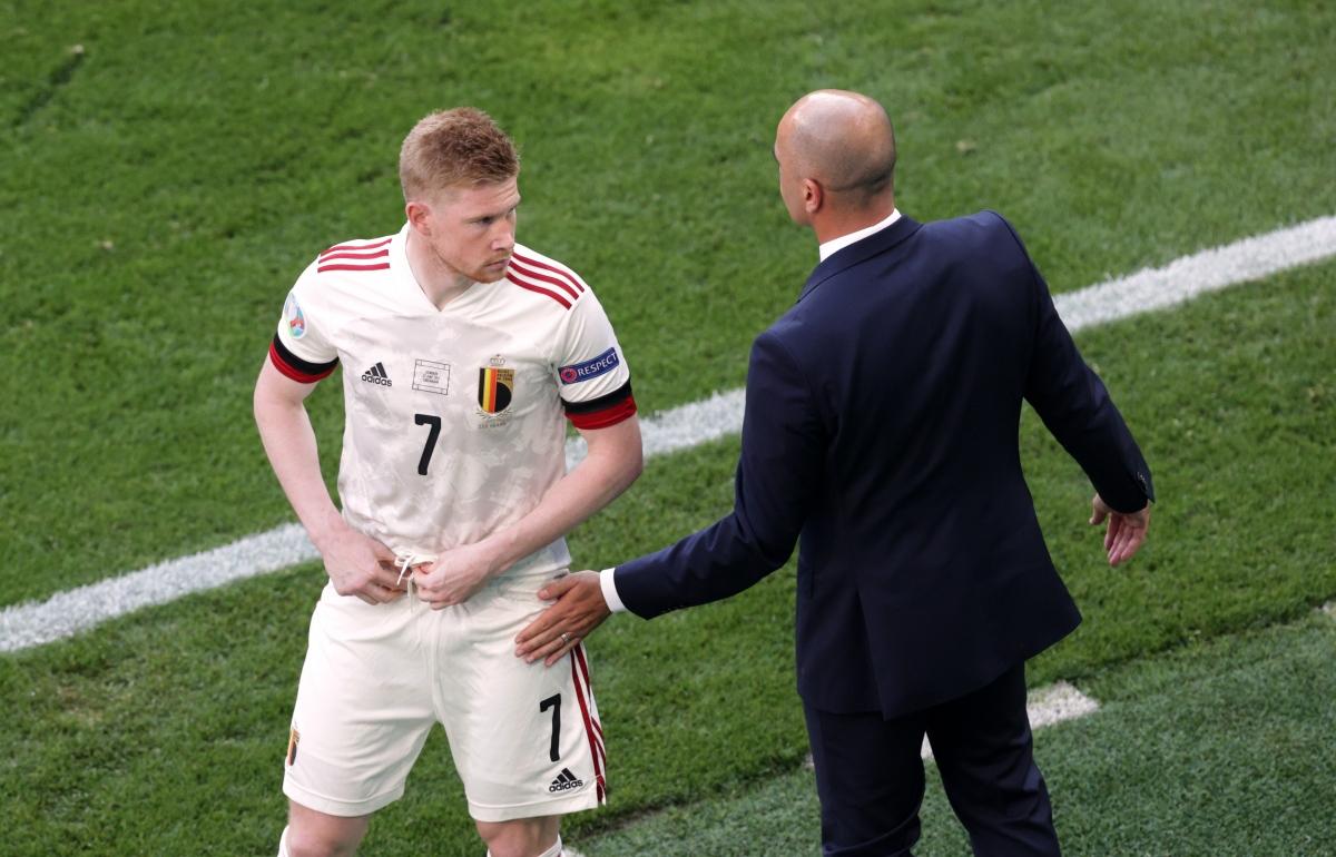 De Bruyne không phải đeo mặt nạ như dự đoán ban đầu, sau khi bị gãy xương mũi, tổn thương hốc mắt vì pha va chạm với Rudiger ở chung kết Champions League. (Ảnh: Reuters)