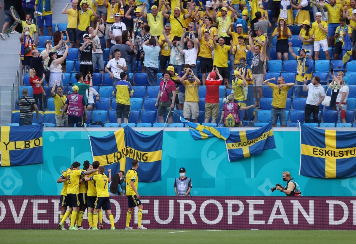 Thắng tối thiểu Slovakia, Thụy Điển tạm thời dẫn đầu bảng E với 4 điểm. (Ảnh: Reuters)
