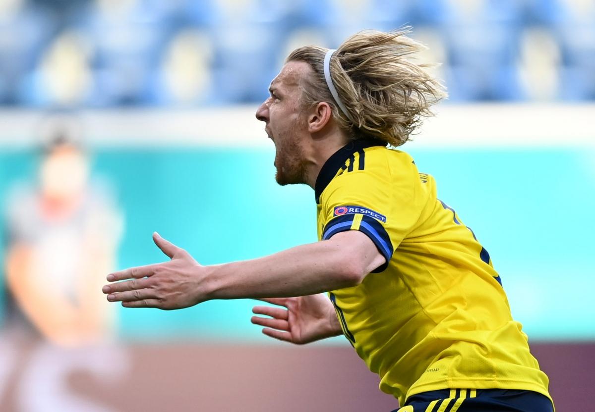 Thụy Điển có chiến thắng đầu tiên ở EURO 2021 sau khi hòa Tây Ban Nha 0-0 ở trận ra quân. (Ảnh: Reuters)