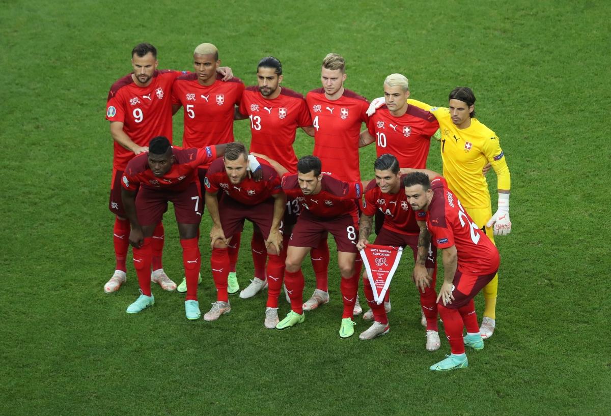 Đội hình xuất phát của Thụy Sĩ. (Ảnh: Reuters)