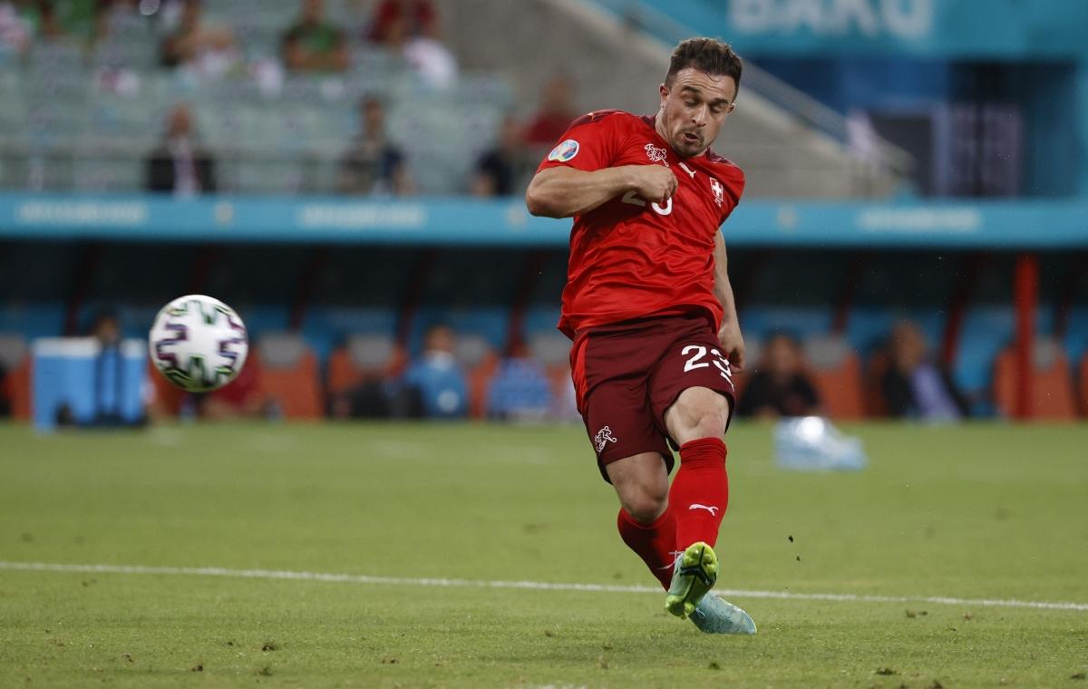Shaqiri ấn định chiến thắng 3-1 cho Thụy Sĩ ở phút 68. (Ảnh: Reuters)