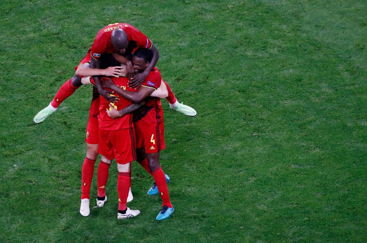 Bỉ toàn thắng ở bảng B EURO 2021. (Ảnh: Reuters).