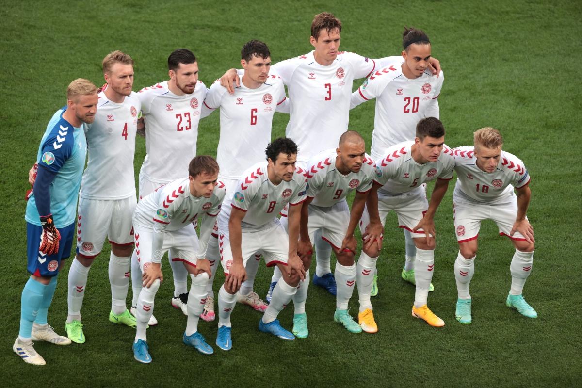 Đội hình xuất phát của Đan Mạch. (Ảnh: Reuters)
