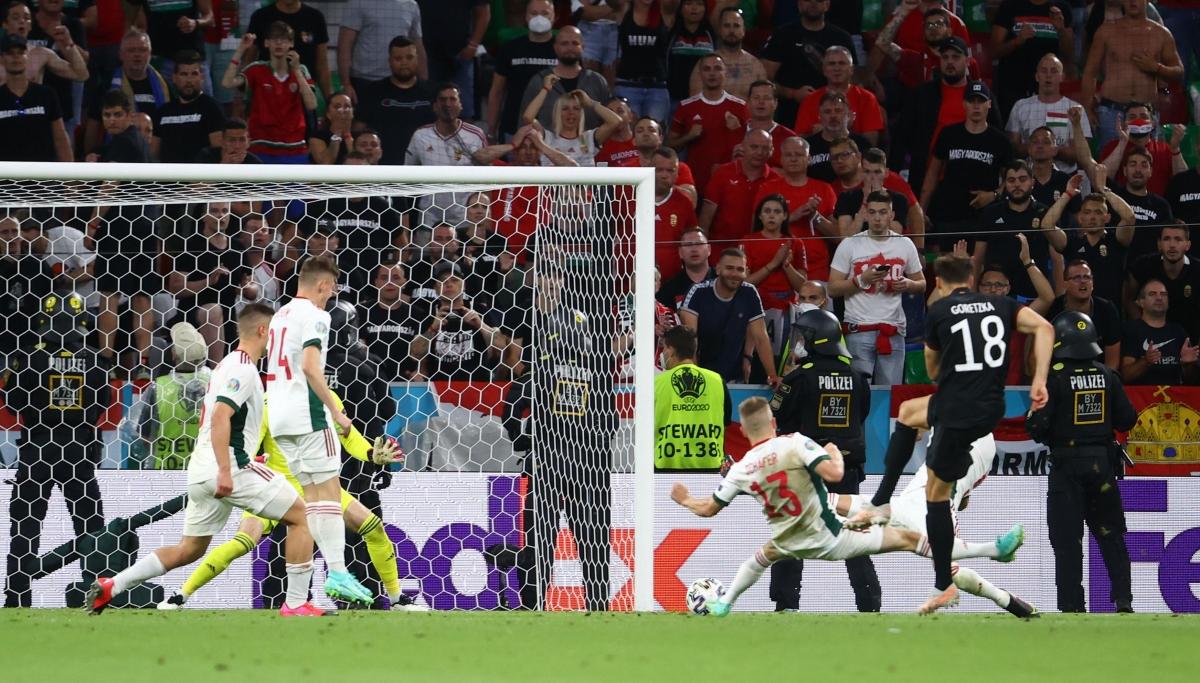 Goretzka ghi bàn thắng quý giá cho Đức. (Ảnh: Reuters)