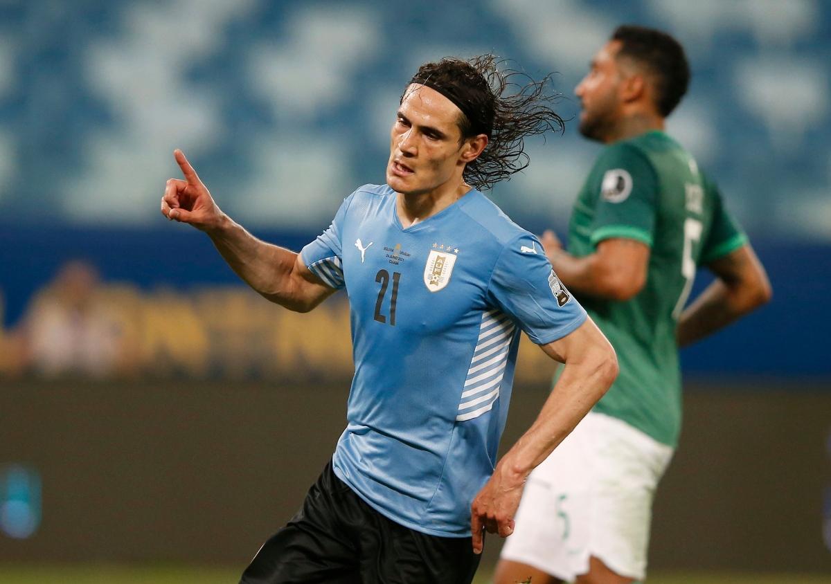 Uruguay vào tứ kết Copa America 2021 sớm 1 lượt trận (Ảnh: Reuters).