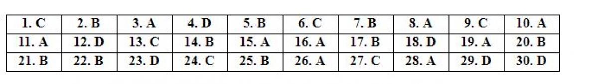 Đáp án mã đề tiếng Anh 119 do giáo viên Tuyensinh247 thực hiện.