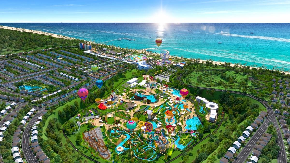 Phối cảnh Siêu thành phố Biển – Du lịch – Sức khỏe NovaWorld Phan Thiet 1,000 ha với vốn đầu tư lên đến 5 tỷ USD.